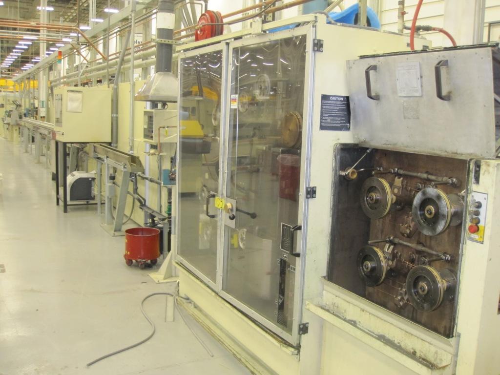 Nokia-Maillefer Niehoff Tandem Wire Insulating Line MT200 Drawing Machine