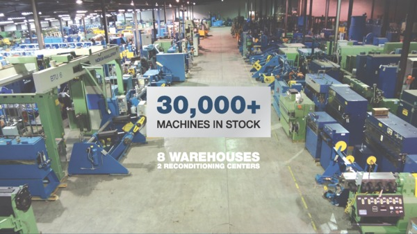 Largest Inventory of Used Wire and Cable Machines