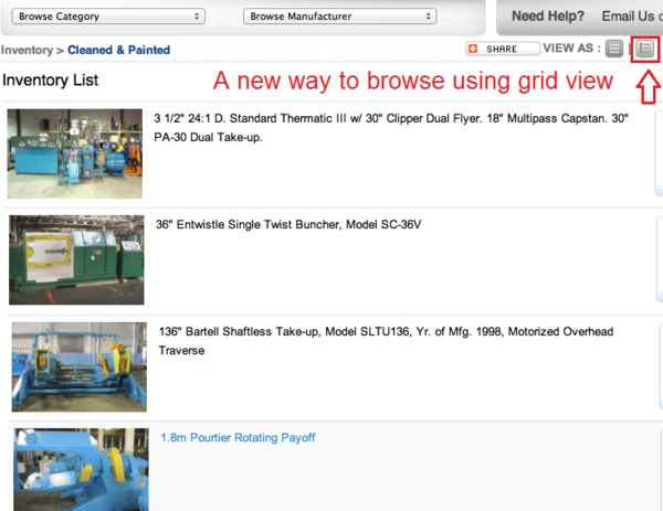 New Website Feature Grid View
